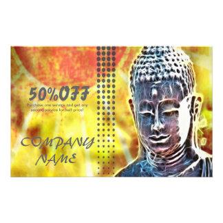 zen moderno de Buda del BALNEARIO elegante del Tarjetas Publicitarias