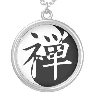 Zen Yin Yang Collar Plateado