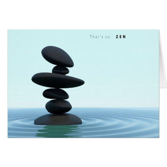 ZENES Stone que ondulan el agua poco profunda Tarjeta De Felicitación