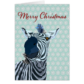 Zenya azul y navidad blanco del copo de nieve que  felicitacion