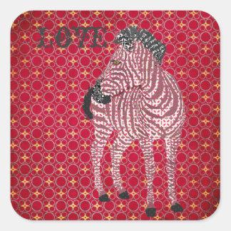 Zenya Red Love Sticker