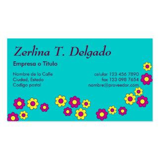 Zerlina de Flores Rosa Tarjetas De Visita