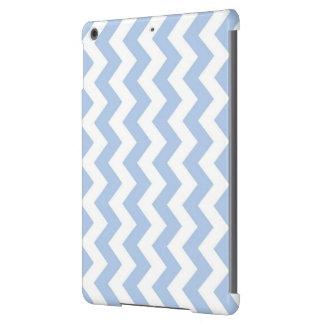 Zigzag azul claro y blanco carcasa para iPad air