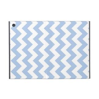 Zigzag azul claro y blanco iPad mini funda
