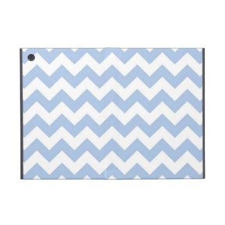 Zigzag azul claro y blanco iPad mini carcasa