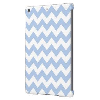 Zigzag azul claro y blanco funda para iPad air