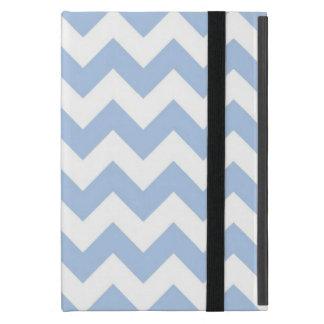 Zigzag azul claro y blanco iPad mini cárcasa