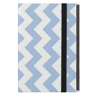 Zigzag azul claro y blanco iPad mini cobertura