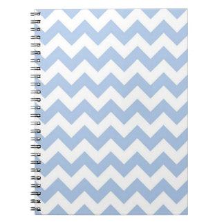 Zigzag azul claro y blanco libretas