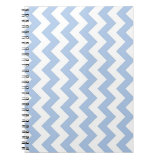 Zigzag azul claro y blanco libros de apuntes con espiral