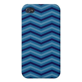 Zigzag azul iPhone 4/4S funda