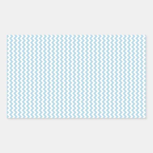 Zigzag - blanco y azul claro etiquetas