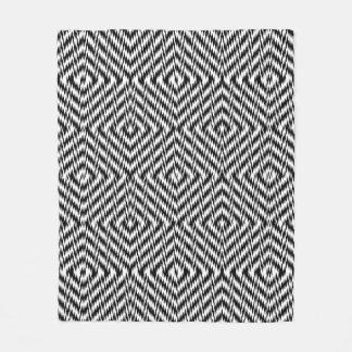 Zigzag blanco y negro manta polar