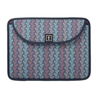 Zigzag coralino de color topo, aguamarina, color funda para macbook pro