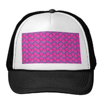 Zigzag del papel rosado y azul gorras