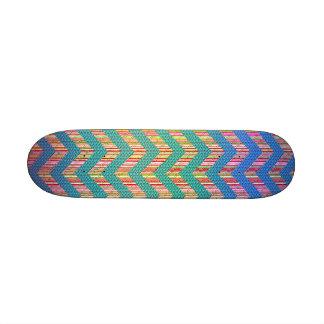 Zigzag en colores pastel lindo de moda monopatines personalizados