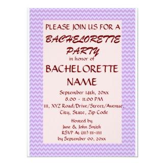 Zigzag Fiesta-Violeta de Bachelorette, fondo Invitación 16,5 X 22,2 Cm