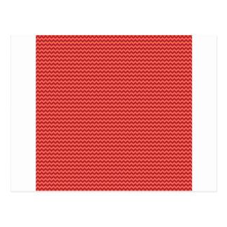 Zigzag horizontal - rojo en colores pastel y postal