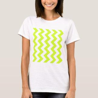 Zigzag I - Amarillo blanco y fluorescente Camiseta