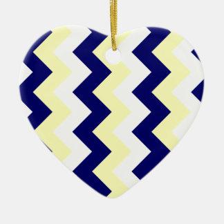 Zigzag I - Blanco amarillo y azul marino eléctric