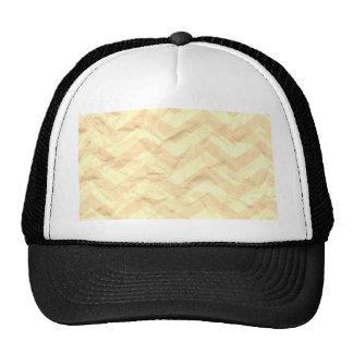 zigzag loco, amarillo del papel gorras