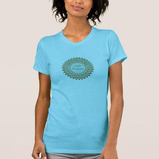 Zigzag Starburst de Brown de la turquesa Camiseta