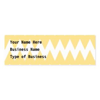 Zigzags amarillos blancos y en colores pastel tarjetas de visita mini