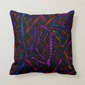 Zigzags coloreados multi cojín decorativo