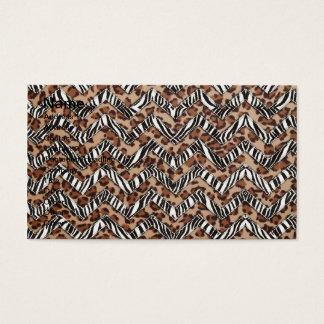 Zigzags del estampado de animales tarjeta de negocios