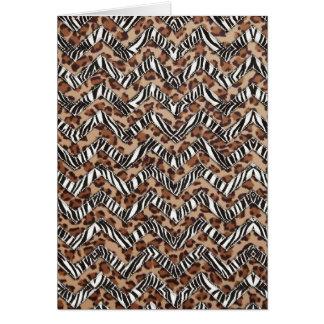 Zigzags del estampado de animales tarjeta pequeña