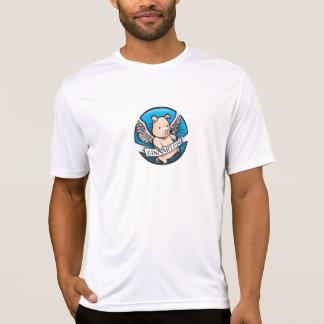 Zinnart.com que vuela el logotipo del cerdo camiseta