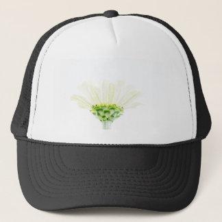 Zinnia blanco simplista gorra de camionero