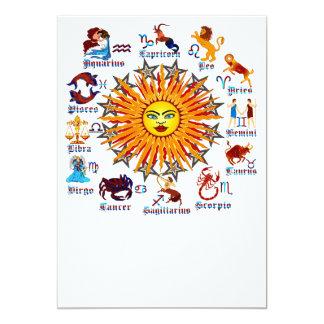 Zodiac-Signs-All-V-1 Invitación 12,7 X 17,8 Cm