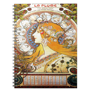 Zodiaco 1896 de Alfons Mucha Cuaderno