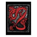 Zodiaco chino - dragón chino del zodiaco tarjeta postal