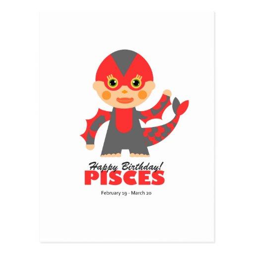 Zodiaco de Piscis para los niños Postal