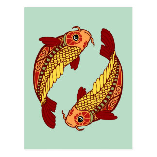 Zodiaco de Piscis - pescado Postal
