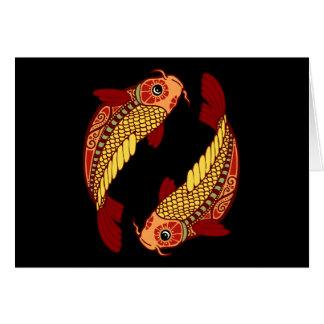 Zodiaco de Piscis - pescado Tarjeta De Felicitación