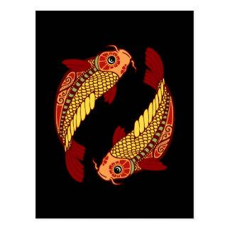 Zodiaco de Piscis - pescado Postales