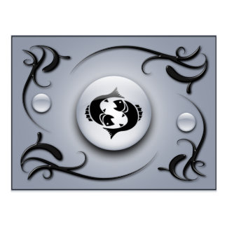 Zodiaco Piscis Tarjeta Postal