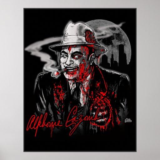 Zombi Al Capone (Al Cazombie) Posters