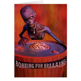 Zombi cómico de Halloween que se menea para los Tarjeta De Felicitación