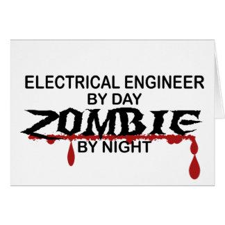 Zombi del ingeniero eléctrico tarjeta de felicitación