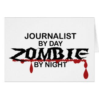 Zombi del periodista tarjeta de felicitación