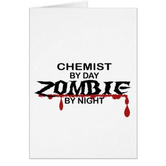 Zombi del químico tarjeta de felicitación
