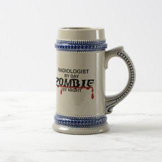 Zombi del radiólogo jarra de cerveza