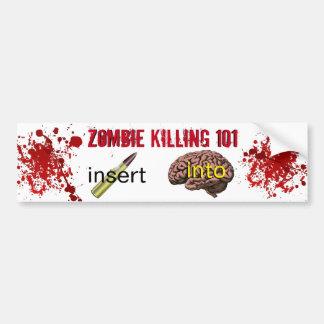 Zombi que mata a 101 (bala del parte movible en pegatina para coche
