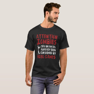 Zombis de la atención de la camiseta del zombi