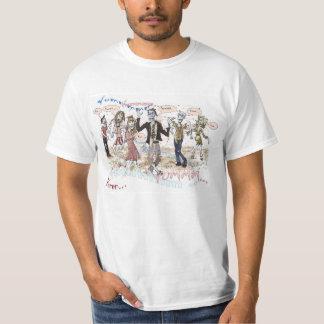 Zombis hambrientos camisetas