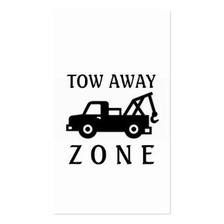 Zona ausente del camión de remolque de la remolque tarjetas de visita